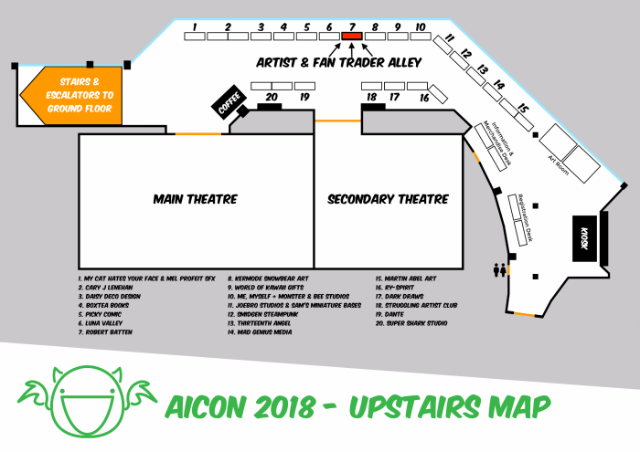 AICon 2018 Upstairs Map Highlight
